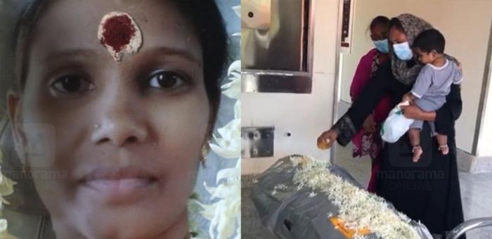 tamil,lady,died,dubai,jereena,funeral,service
