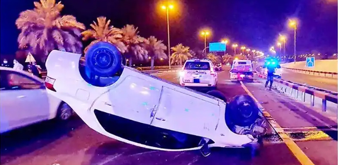 baharin,car,accident,hamad,town,woman,injured