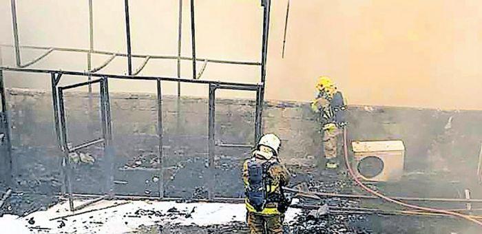 kuwait,old,building,fire