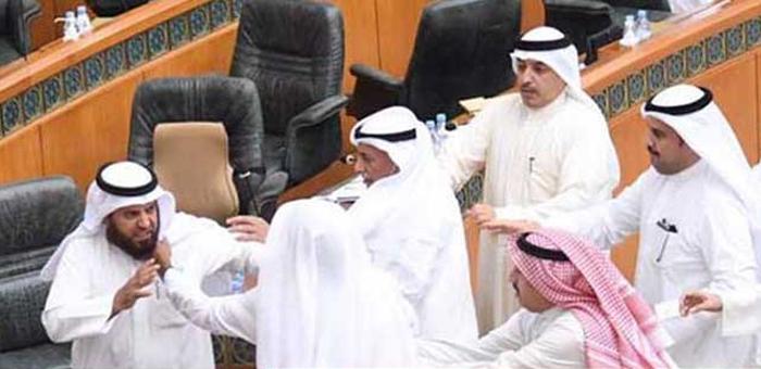 kuwait,parliament,budget,video,fistfight,breaksout