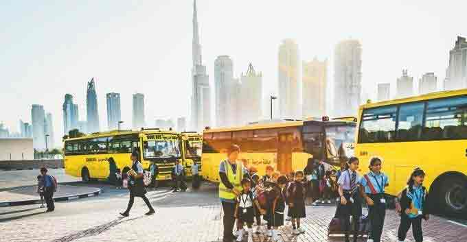 school,buses,dubai,50percent,students