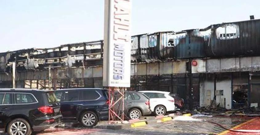 dubai,large,fire,car,dealership,55vehicles,destroyed,fire