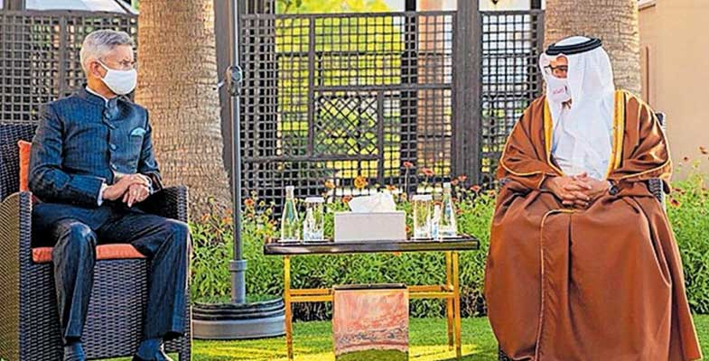 indian,foreign,minister,meets,bahraini,crown,prince